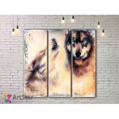 Модульные картины с животными, Art. AMM778006