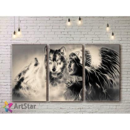 Модульные картины с животными, Art. AMM778008