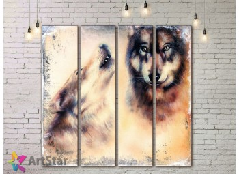 Модульные картины с животными, Art. AMM778028