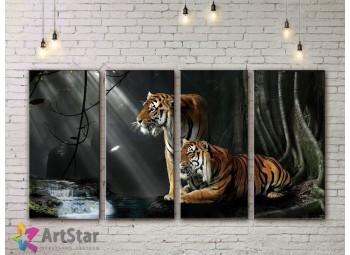 Модульные картины с животными, Art. AMM778054
