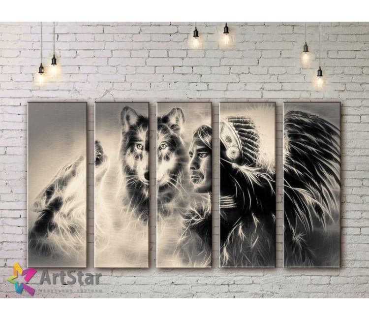 Модульные картины с животными, Art. ANIM778074