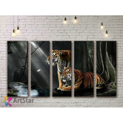 Модульные картины с животными, Art. ANIM778084