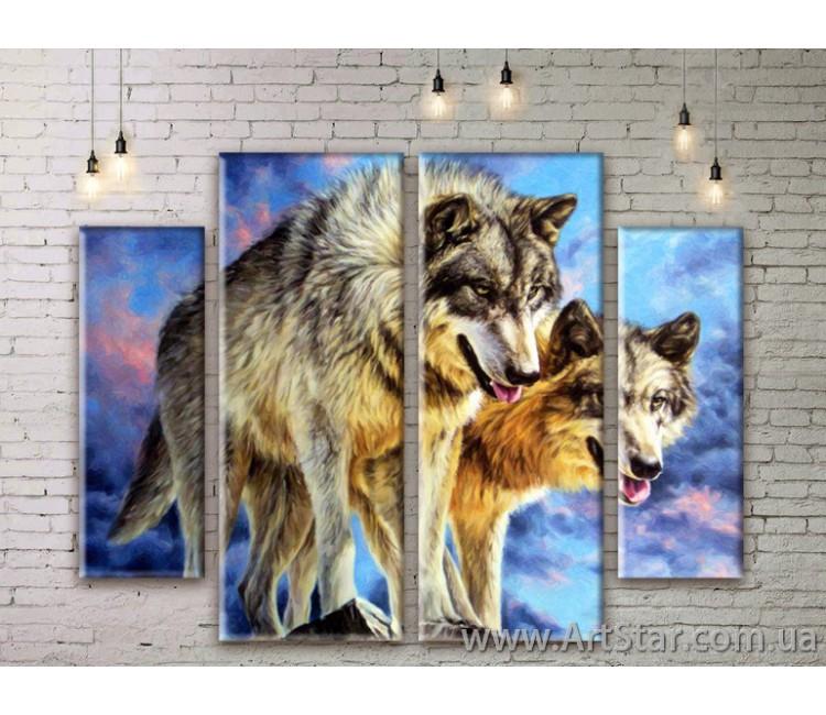 Модульные картины с животными, Art. ANIM777003