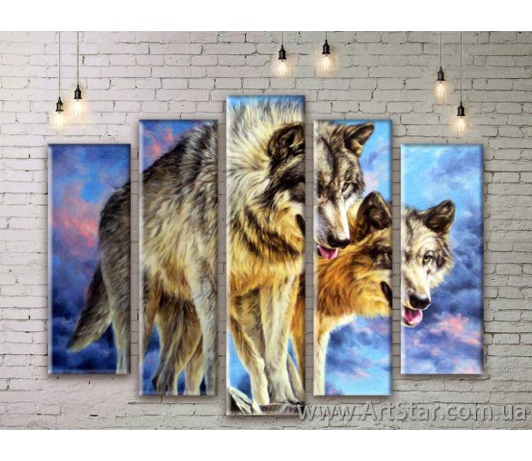 Модульные картины с животными, Art. ANIM777005