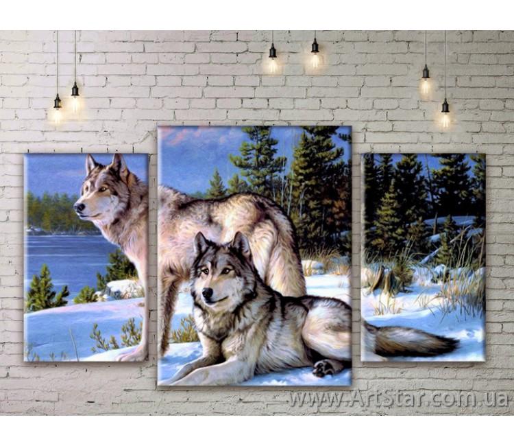 Модульная Картина, семья волков
