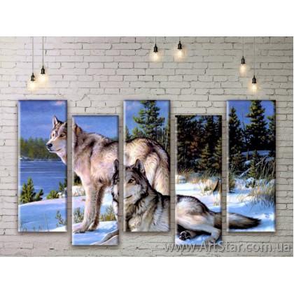 Модульные картины с животными, Art. ANIM777011