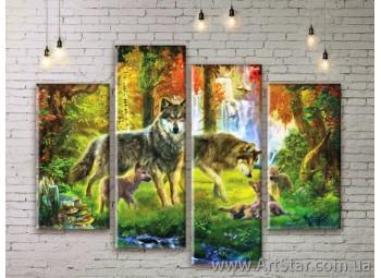 Модульные картины с животными, Art. ANIM777015