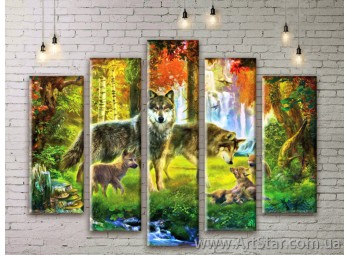 Модульные картины с животными, Art. ANIM777017