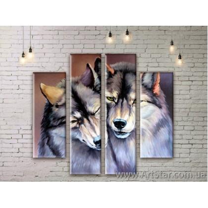 Модульные картины с животными, Art. ANIM777021