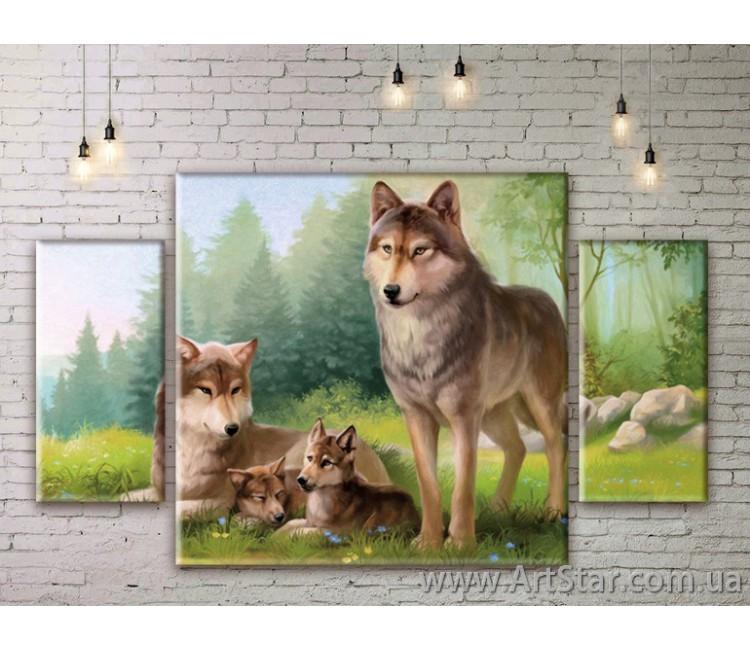 Модульные картины с животными, Art. ANIM777025