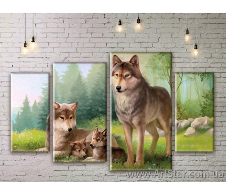 Модульные картины с животными, Art. ANIM777027