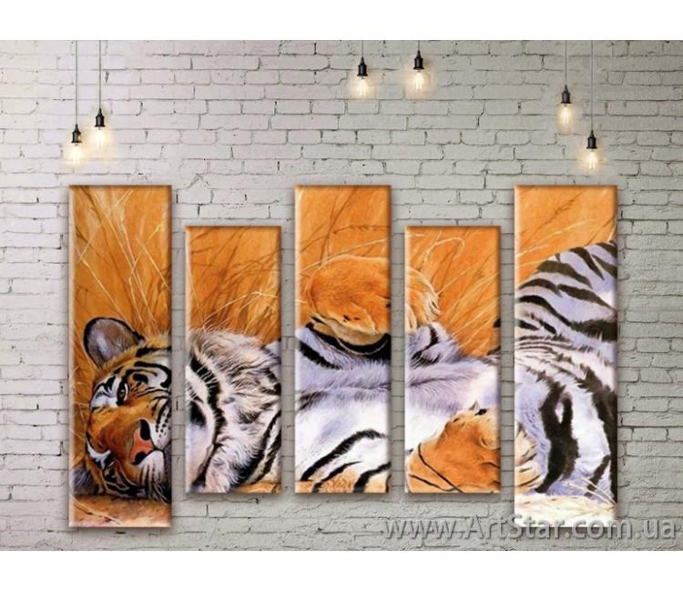 Модульные картины с животными, Art. ANIM777035