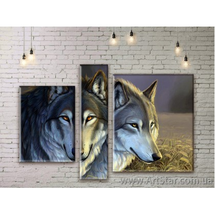 Модульные картины с животными, Art. ANIM777043
