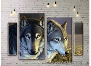Модульные картины с животными, Art. ANIM777045