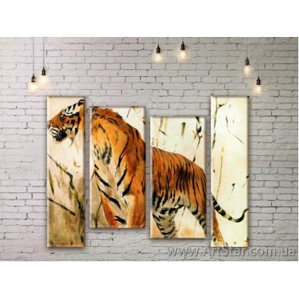 Модульные картины с животными, Art. ANIM777051
