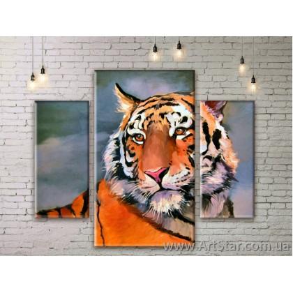 Картина модульная Тигр