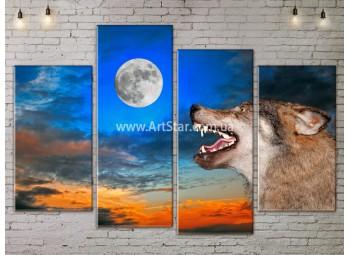 Модульные картины с животными, Art. ANIM778029