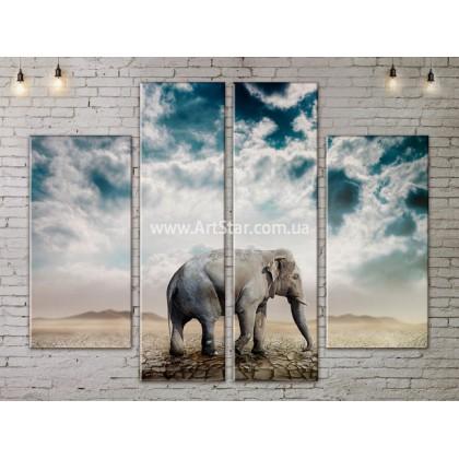 Модульные картины с животными, Art. ANIM778033
