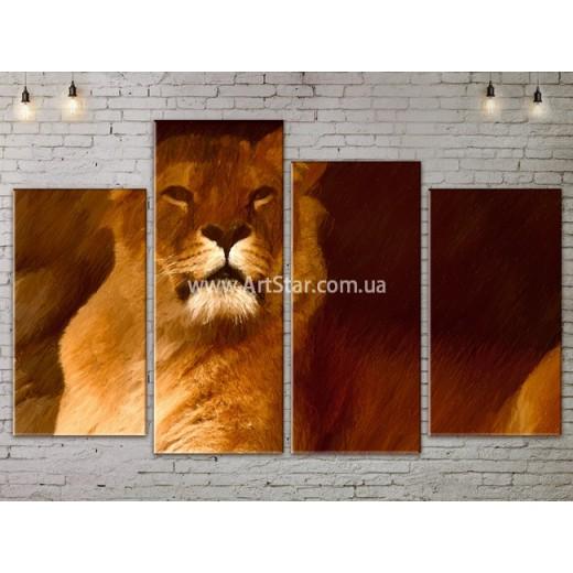 Модульные картины с животными, Art. ANIM778039
