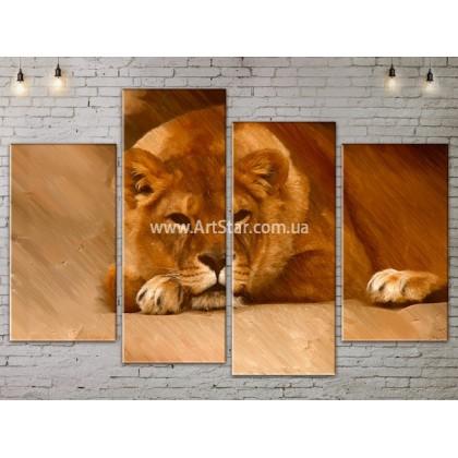 Модульные картины с животными, Art. ANIM778043