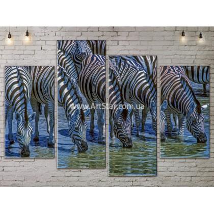 Модульные картины с животными, Art. ANIM778045