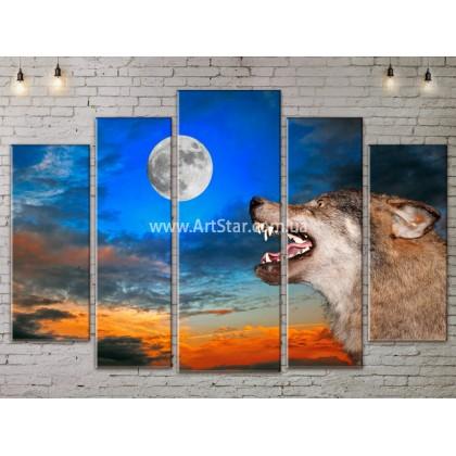 Модульные картины с животными, Art. ANIM778055