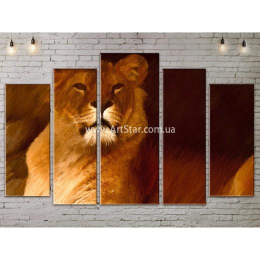 Модульные картины с животными, Art. ANIM778065
