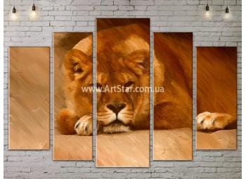 Модульные картины с животными, Art. ANIM778069
