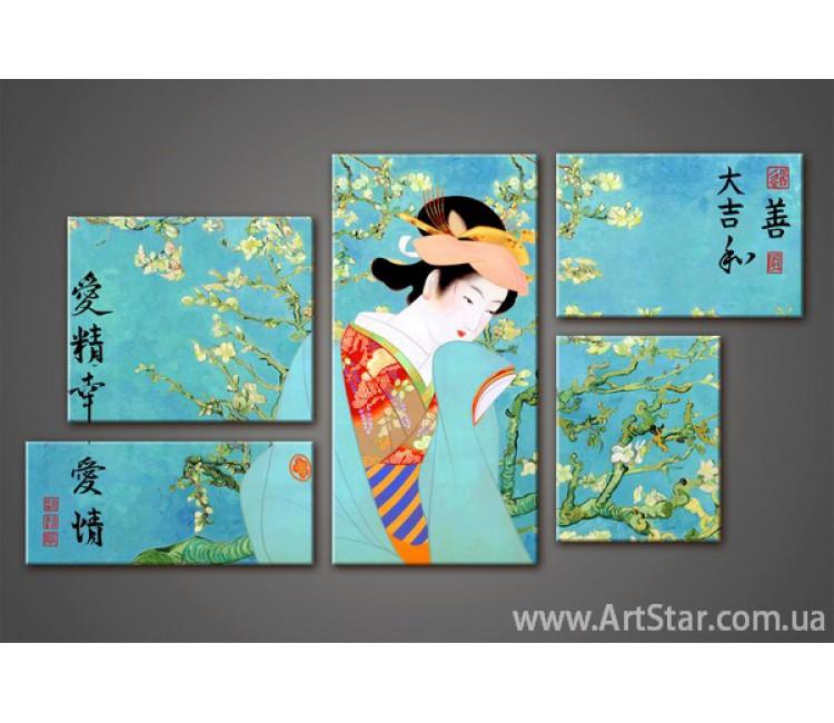 Модульная картина Сакура (5)