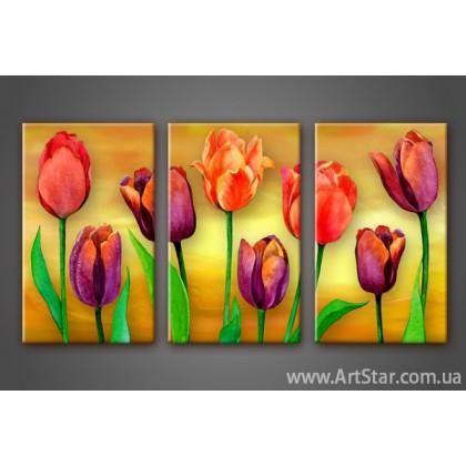 Модульная картина Тюльпаны