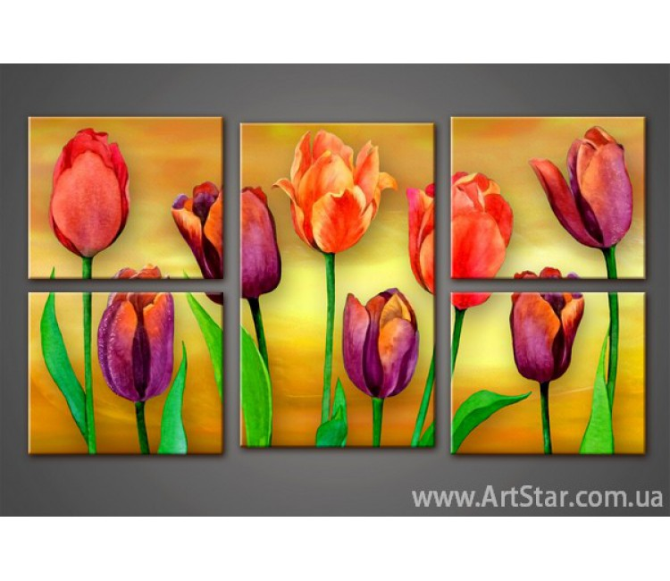 Модульная картина Тюльпаны (5)