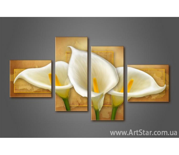 Модульная картина Каллы(4) 2
