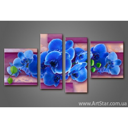 Модульная картина Орхидеи(4) 3