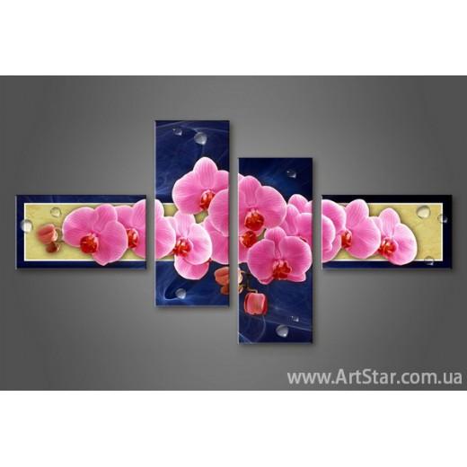 Модульная картина Орхидеи(4) 4