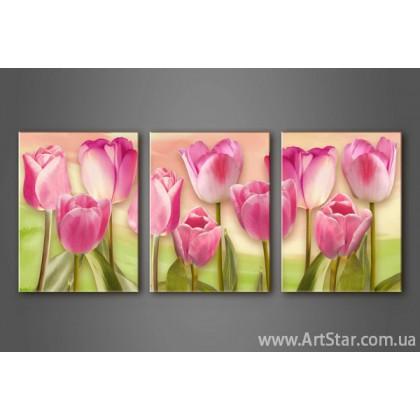 Модульная картина Тюльпаны 3