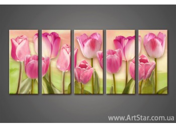 Модульная картина Тюльпаны (5) 3