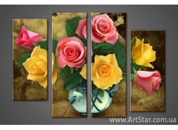 Модульная картина Розы (4)
