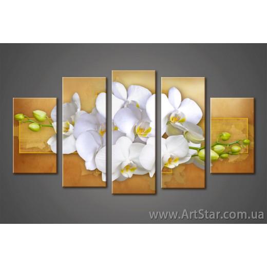 Орхидея, Модульная Картина
