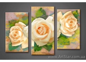 Модульная картина, Розы