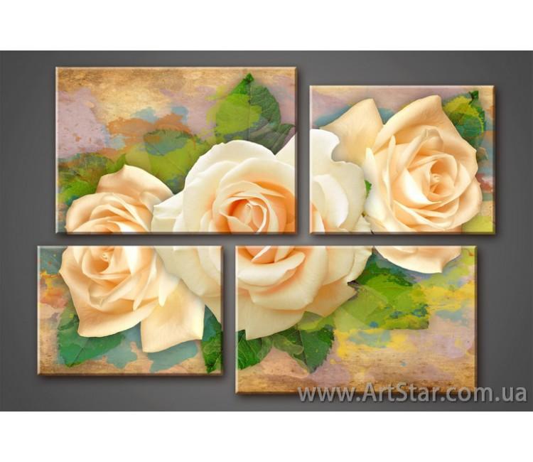 Розы, Модульные Картины