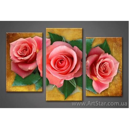 Модульная картина, Красные Розы