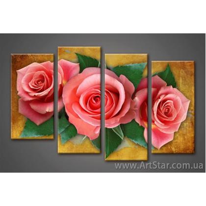 Роза, Картина Модульная