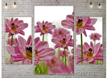 Модульные Картины Цветы, Art. FLOW777003