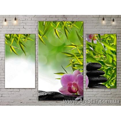 Модульные Картины Цветы, Art. FLOW777015