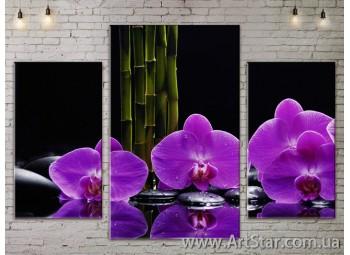 Модульные Картины Цветы, Art. FLOW777047