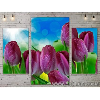 Модульные Картины Цветы, Art. FLOW777061