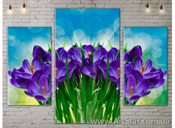 Модульные Картины Цветы, Art. FLOW777065