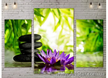 Модульные Картины Цветы, Art. FLOW777071