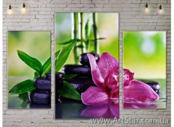 Модульные Картины Цветы, Art. FLOW777097
