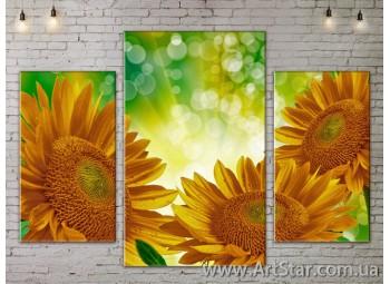 Модульные Картины Цветы, Art. FLOW777101